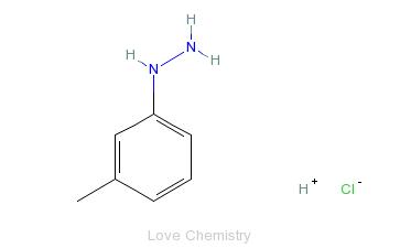 CAS:637-04-7_3-甲基苯肼盐酸盐的分子结构