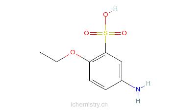 CAS:6375-02-6_5-氨基-2-乙氧基苯磺酸的分子结构