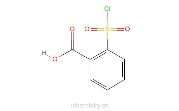 CAS:63914-81-8_2-(氯磺酰基)苯甲酸的分子结构