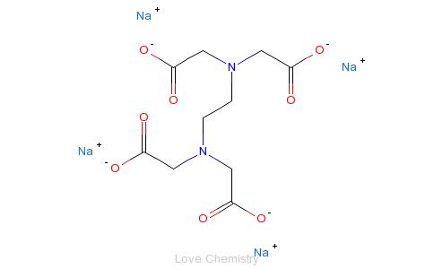 CAS:64-02-8_乙二胺四乙酸四钠的分子结构