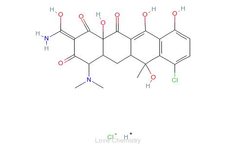 CAS:64-72-2_盐酸金霉素的分子结构