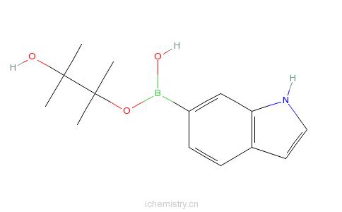 CAS:642494-36-8_吲哚-6-硼酸频哪醇酯的分子结构
