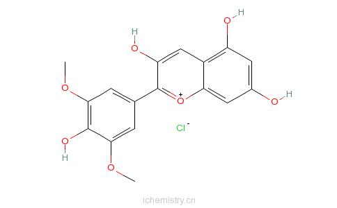CAS:643-84-5_氯化锦葵色素的分子结构
