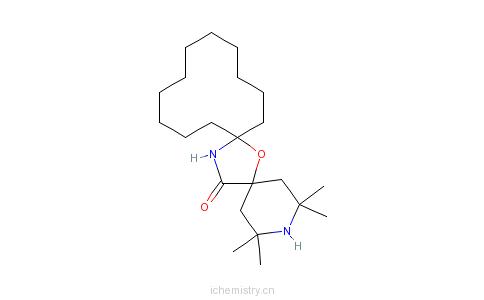 CAS:64338-16-5_2,2,4,4-四甲基-7-氧杂-3,20-二氮杂二螺[5.1.11.2]二十一烷-21-酮的分子结构