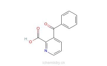 CAS:64362-32-9_3-苯甲酰吡啶-2-羧酸的分子结构