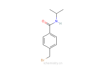 CAS:64580-41-2_4-(溴甲基)-N-异丙基苯甲酰胺的分子结构