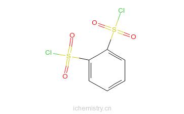 CAS:6461-76-3_苯-1,2-磺酰氯化物的分子结构