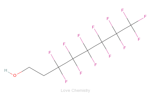 CAS:647-42-7_3,3,4,4,5,5,6,6,7,7,8,8,8-十三氟-1-辛醇的分子结构