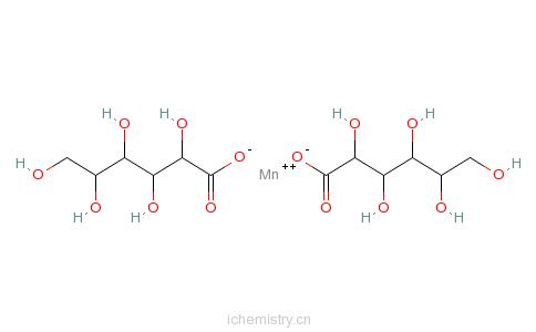 CAS:6485-39-8_葡萄糖酸锰的分子结构