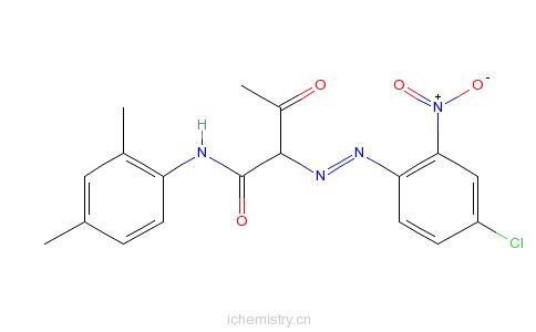 CAS:6486-26-6_2-[(4-氯-硝基苯基)偶氮]-N-(2,4-二甲基苯基)-3-氧代丁酰胺的分子结构