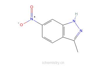CAS:6494-19-5_3-甲基-6-硝基-1H-吲唑的分子结构