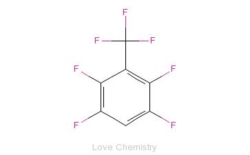 CAS:651-80-9_2,3,5,6-四氟三氟甲苯的分子结构