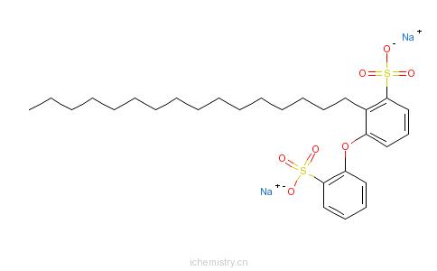 CAS:65143-89-7_十六烷基磺基苯氧基苯磺酸二钠盐的分子结构