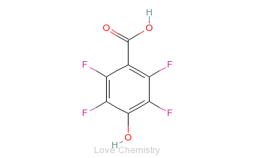 CAS:652-34-6_4-羟基-四氟苯甲酸的分子结构