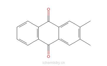 CAS:6531-35-7_2,3-二甲基蒽醌的分子结构