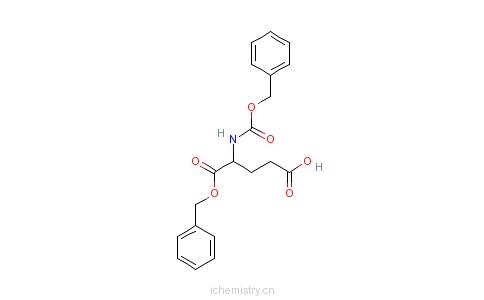 CAS:65706-99-2_苄氧羰基-D-谷氨酸alpha-苄酯的分子结构