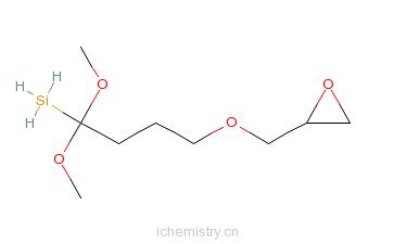 CAS:65799-47-5_3-[(2,3)-环氧丙氧]丙基甲基二甲氧基硅烷的分子结构