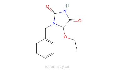 CAS:65855-02-9_1-苄基-5-乙氧基海因的分子结构