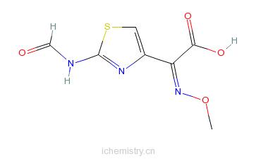 CAS:65872-43-7_(Z)-2-(2-甲酰氨基噻唑-4-基)-2-甲氧亚氨基乙酸的分子结构