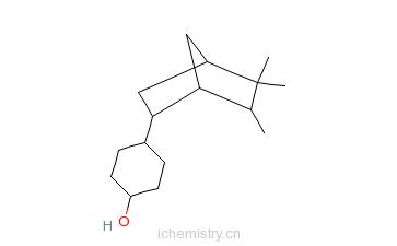 CAS:66068-84-6_4-(5,5,6-三甲基双环[2.2.1]庚-2-基)环己-1-醇的分子结构