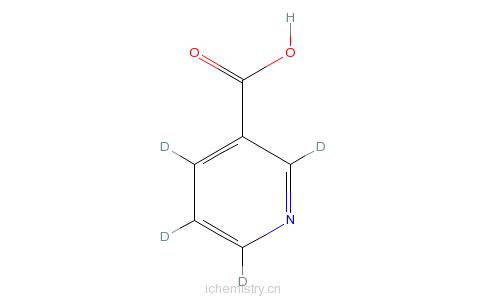 CAS:66148-15-0_3-吡啶-d4-羧酸的分子结构