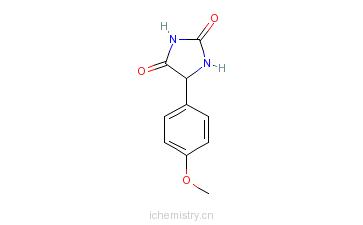 CAS:6617-78-3_5-(4-甲氧苯基)乙内酰脲的分子结构