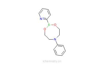 CAS:662138-96-7_吡啶-2-硼酸N-苯胺二乙醇酯的分子结构