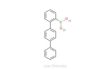 CAS:663954-31-2_2-对三联苯硼酸的分子结构