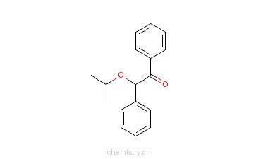 CAS:6652-28-4_2-(1-甲基乙氧基)-1,2-二苯基乙酮的分子结构