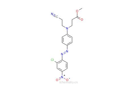 CAS:6657-37-0_N-[4-[(2-氯-4-硝基苯基)偶氮]苯基]-N-(2-氰乙基)-&beta的分子结构