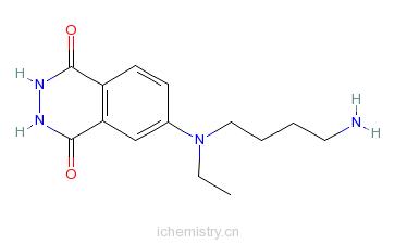 CAS:66612-29-1_N-(4-氨基丁基)-N-乙基异鲁米诺的分子结构
