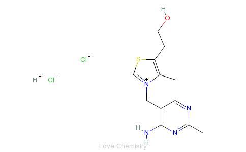 CAS:67-03-8_盐酸硫胺的分子结构