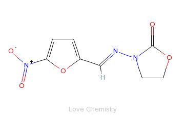 CAS:67-45-8_呋喃唑酮的分子结构