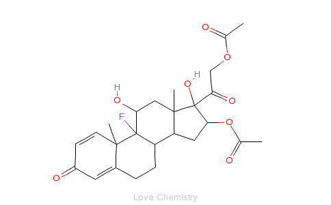 CAS:67-78-7_曲安西龙双醋酸酯的分子结构
