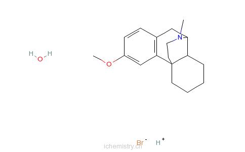 CAS:6700-34-1_一水氢溴酸右旋美沙芬的分子结构
