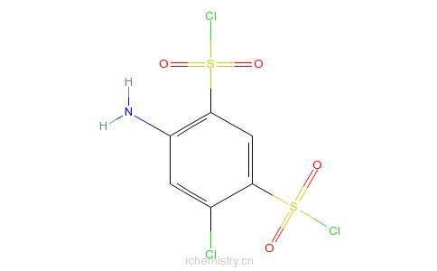 CAS:671-89-6_4-氨基-6-氯-1,3-苯二磺酰氯的分子结构