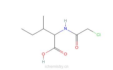 CAS:67253-30-9_氯乙酰基-L-异亮氨酸的分子结构