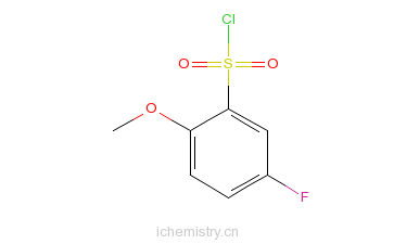 CAS:67475-56-3_5-氟-2-甲氧基苯磺酰氯的分子结构