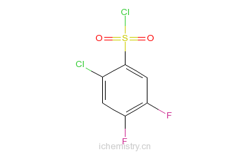 CAS:67475-58-5_2-氯-4,5-二氟苯磺酰氯的分子结构