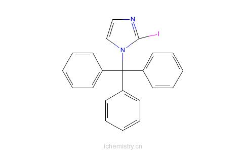CAS:67478-46-0_2-碘-1-三苯甲基-1H-咪唑的分子结构