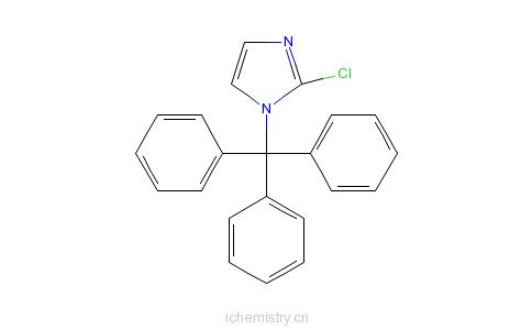 CAS:67478-48-2_2-氯-1-三苯甲基-1H-咪唑的分子结构