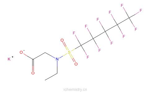 CAS:67584-52-5_N-乙基-N-[(十一氟戊基)磺酰基]甘氨酸钾盐的分子结构