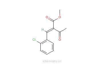 CAS:67593-46-8_2-乙酰基-3-(2-氯苯基)-丙烯酸甲酯的分子结构