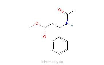 CAS:67654-58-4_(S)-N-乙酰基-beta-苯丙氨酸甲酯的分子结构
