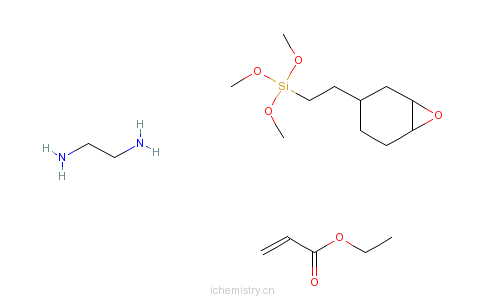 CAS:67674-62-8_2-丙烯酸乙酯与1,2-乙二胺和三甲氧基[2-[7-氧杂二环[4.1.0]庚烷-3-基]乙基]硅烷的分子结构