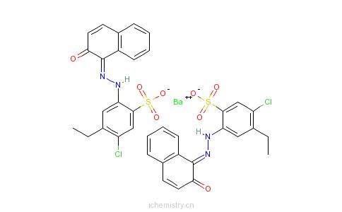 CAS:67801-01-8_5-氯代-4-乙基-2-[(2-羟基-1-萘基)偶氮基]苯磺酸钡盐的分子结构