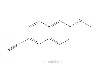 CAS:67886-70-8_6-甲氧基-2-萘甲腈的分子结构