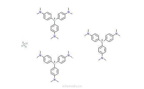 CAS:67953-39-3_N-[4-[二[4-(二甲氨基)苯基]亚甲基]-2,5-环己二烯-1-亚基]-N-甲基甲铵二十四-&mu的分子结构