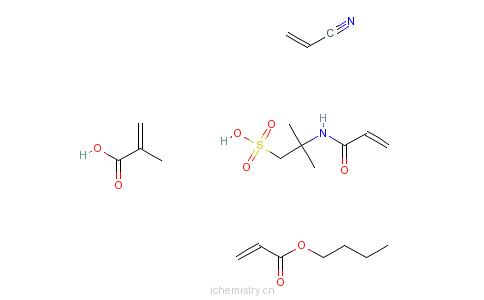 CAS:67953-68-8_2-甲基-2-丙烯酸与2-丙烯酸丁酯的分子结构