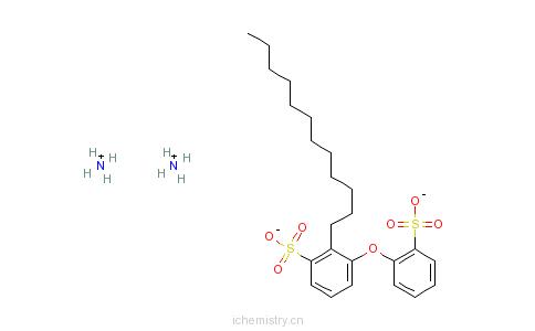 CAS:67968-24-5_十二烷基(磺基苯氧基)苯磺酸二铵盐的分子结构
